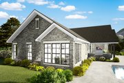 Cottage Style House Plan - 3 Beds 2 Baths 1725 Sq/Ft Plan #406-9660 Exterior - Rear Elevation