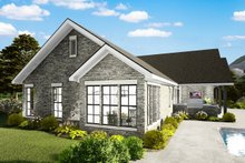 Cottage Exterior - Rear Elevation Plan #406-9660