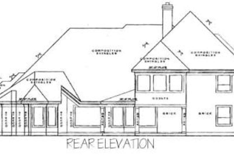 European Exterior - Rear Elevation Plan #61-124 - Houseplans.com