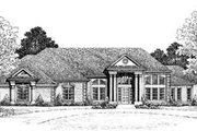 European Style House Plan - 4 Beds 3 Baths 2946 Sq/Ft Plan #72-170 Exterior - Front Elevation