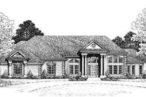 Home Plan - European Exterior - Front Elevation Plan #72-170
