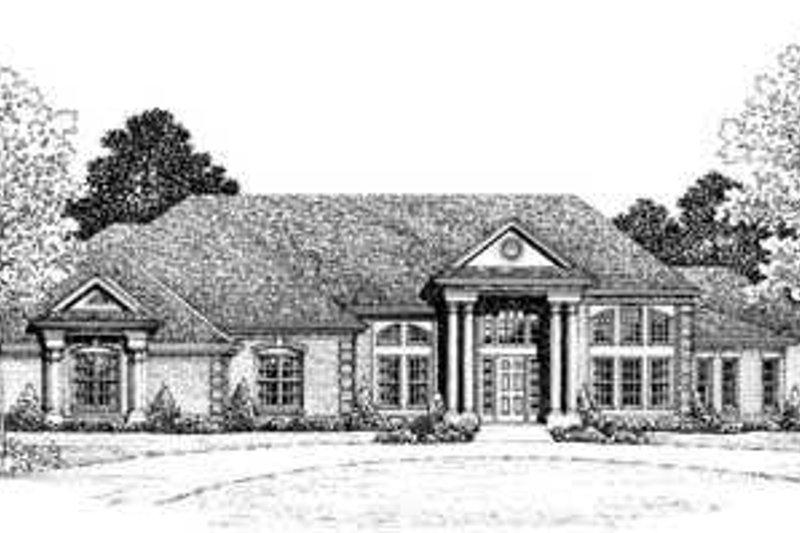 House Plan Design - European Exterior - Front Elevation Plan #72-170