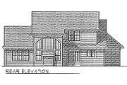 Traditional Style House Plan - 3 Beds 2.5 Baths 2081 Sq/Ft Plan #70-297 Exterior - Rear Elevation