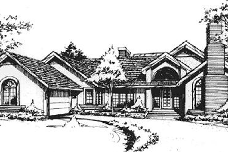 Home Plan - Traditional Exterior - Front Elevation Plan #320-314