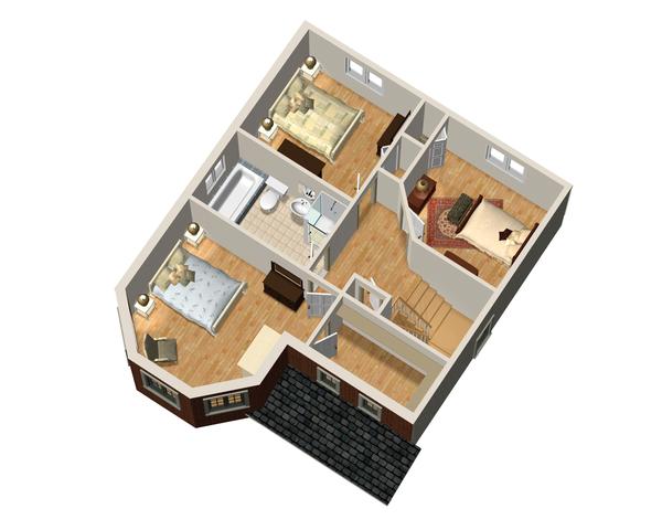 Victorian Floor Plan - Upper Floor Plan #25-4673