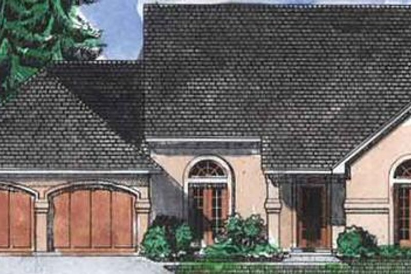 European Exterior - Front Elevation Plan #320-389