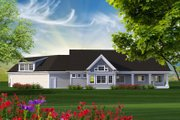 Ranch Style House Plan - 2 Beds 2 Baths 2271 Sq/Ft Plan #70-1216 Exterior - Rear Elevation
