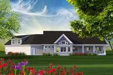House Design - Ranch Exterior - Rear Elevation Plan #70-1216