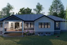 Dream House Plan - Ranch Exterior - Rear Elevation Plan #1060-99