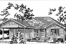 Home Plan - Ranch Exterior - Front Elevation Plan #18-160