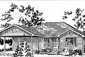 Ranch Exterior - Front Elevation Plan #18-160