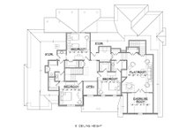 Traditional Floor Plan - Upper Floor Plan Plan #1054-23