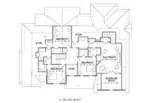 Traditional Floor Plan - Upper Floor Plan Plan #1054-23