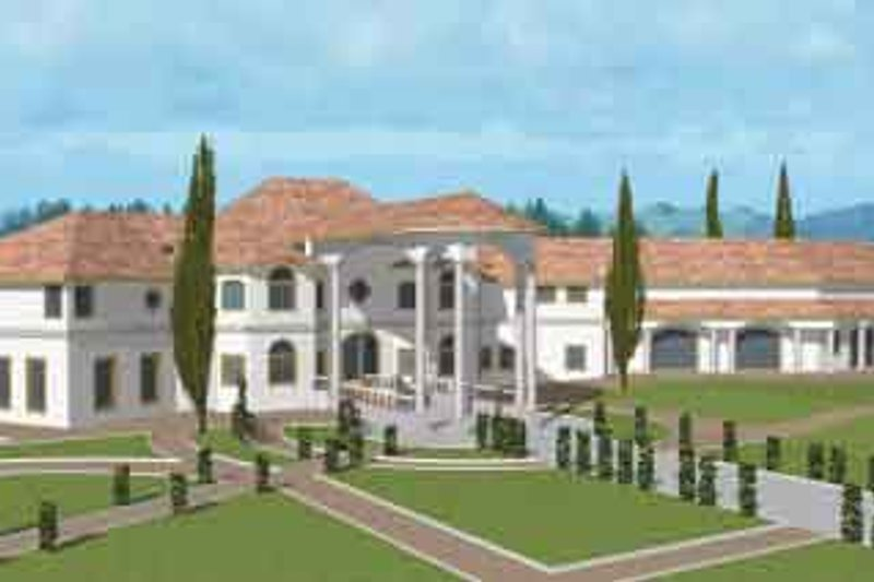 Dream House Plan - Classical Exterior - Front Elevation Plan #117-146