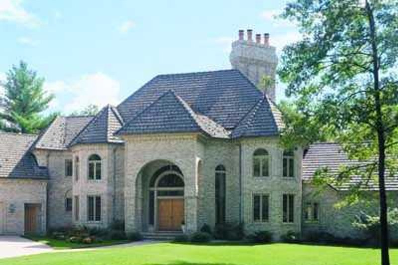 European Style House Plan - 5 Beds 7 Baths 6000 Sq/Ft Plan #72-197 Exterior - Front Elevation