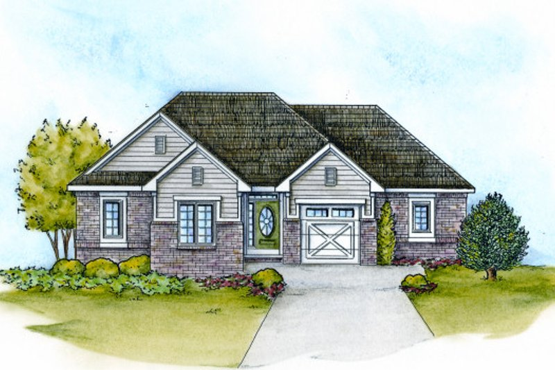 Dream House Plan - Traditional Exterior - Front Elevation Plan #20-2108