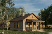 Country Style House Plan - 2 Beds 1 Baths 691 Sq/Ft Plan #17-2604 Exterior - Other Elevation