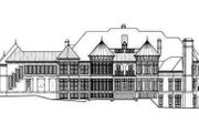 European Style House Plan - 6 Beds 8.5 Baths 7618 Sq/Ft Plan #119-172 Exterior - Rear Elevation