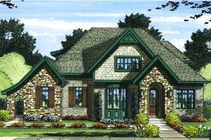 Tudor Exterior - Front Elevation Plan #46-853