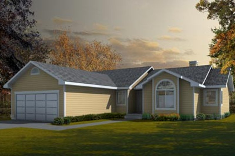 Traditional Exterior - Front Elevation Plan #91-106