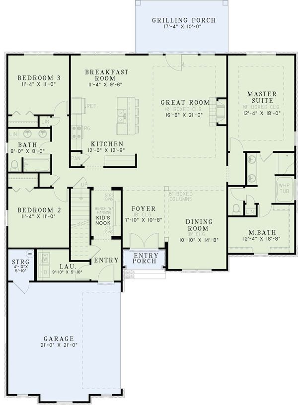 European Floor Plan - Main Floor Plan Plan #17-2490