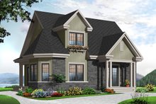 House Plan Design - Country Exterior - Front Elevation Plan #23-2372
