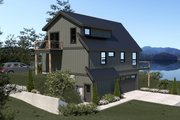 Cottage Style House Plan - 3 Beds 2 Baths 1424 Sq/Ft Plan #1070-57 Exterior - Other Elevation