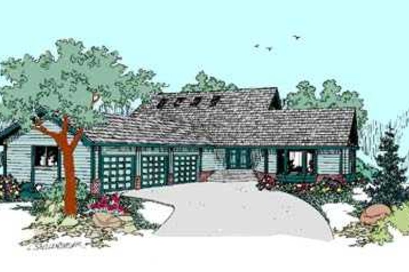Traditional Exterior - Front Elevation Plan #60-475 - Houseplans.com