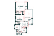 Prairie Style House Plan - 4 Beds 2.5 Baths 2439 Sq/Ft Plan #434-2 Floor Plan - Main Floor Plan