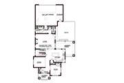 Prairie Style House Plan - 4 Beds 2.5 Baths 2439 Sq/Ft Plan #434-2 Floor Plan - Main Floor