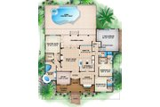 Traditional Style House Plan - 3 Beds 3.5 Baths 3091 Sq/Ft Plan #27-482 Floor Plan - Main Floor Plan
