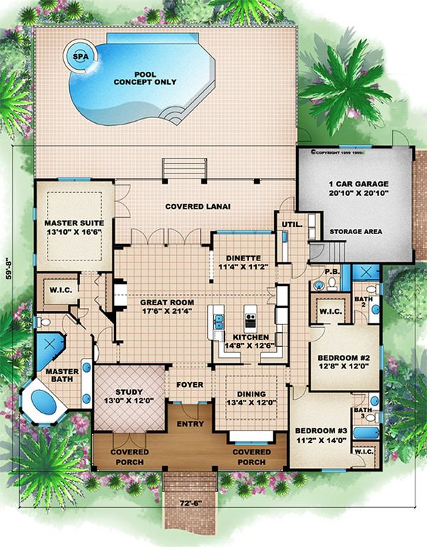 Traditional Floor Plan - Main Floor Plan Plan #27-482