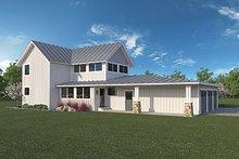 House Plan Design - Farmhouse Exterior - Rear Elevation Plan #1068-1