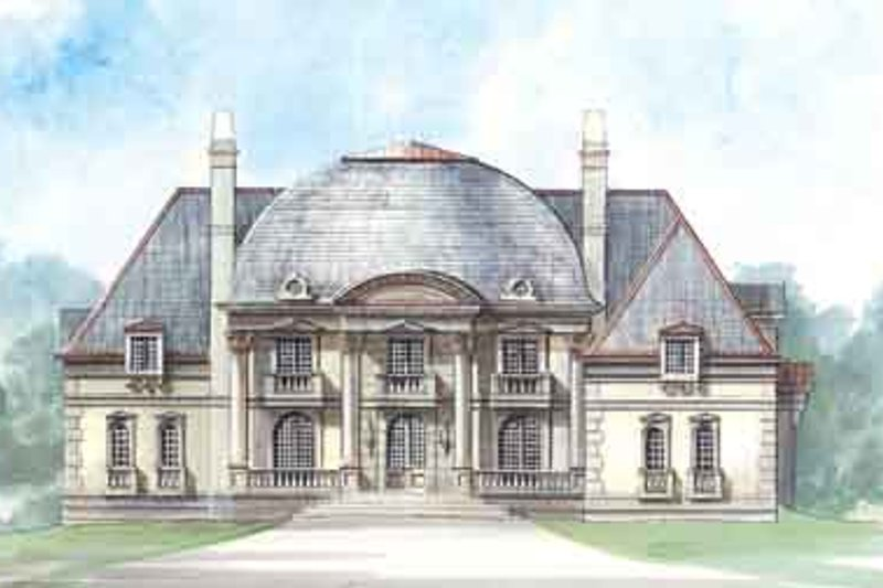 European Style House Plan - 4 Beds 5.5 Baths 5452 Sq/Ft Plan #119-173 Exterior - Front Elevation