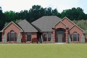 European Style House Plan - 4 Beds 3 Baths 2575 Sq/Ft Plan #65-242 Exterior - Front Elevation