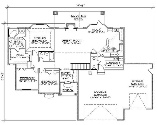 House Plan Design - Traditional Floor Plan - Main Floor Plan #5-254