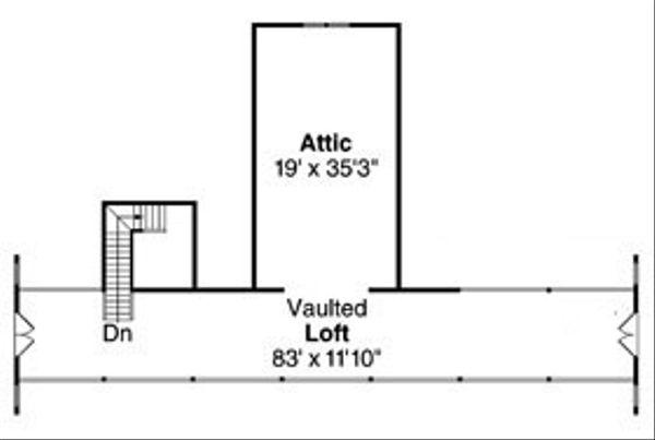 Country Floor Plan - Upper Floor Plan Plan #124-798