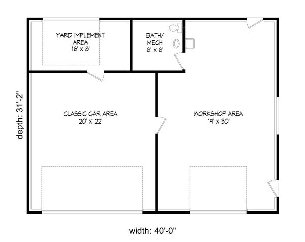 Country Floor Plan - Main Floor Plan Plan #932-165