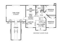 Country Floor Plan - Upper Floor Plan Plan #11-225