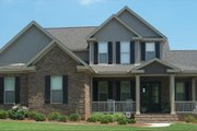 European Style House Plan - 4 Beds 3 Baths 2606 Sq/Ft Plan #63-269 Exterior - Front Elevation
