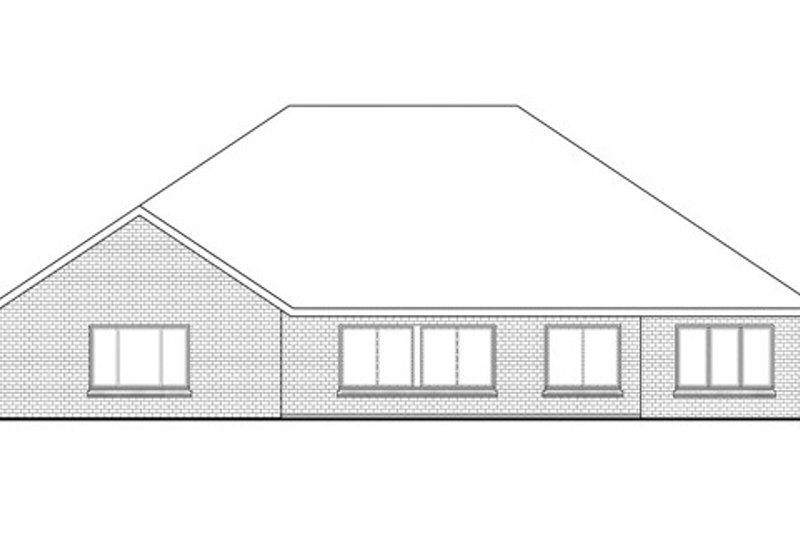 Ranch Exterior - Rear Elevation Plan #124-834 - Houseplans.com