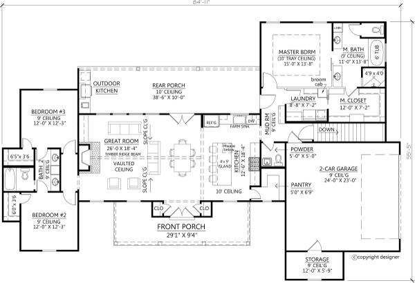 House Plan Design - Basement Stair Location