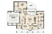 Southern Style House Plan - 3 Beds 2.5 Baths 2127 Sq/Ft Plan #36-195 Floor Plan - Main Floor