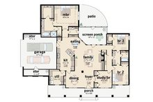 Southern Floor Plan - Main Floor Plan Plan #36-195