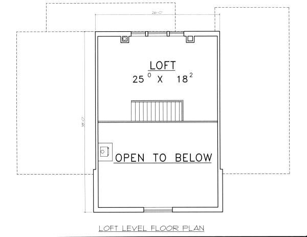 Log Floor Plan - Upper Floor Plan Plan #117-560