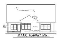 House Design - Craftsman Exterior - Rear Elevation Plan #20-2463