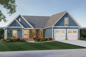 Country Exterior - Front Elevation Plan #21-460