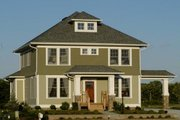 Craftsman Style House Plan - 5 Beds 4 Baths 3590 Sq/Ft Plan #458-12 Exterior - Front Elevation