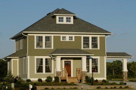 Craftsman Exterior - Front Elevation Plan #458-12