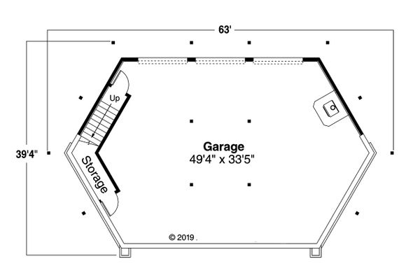 Architectural House Design - Prairie Floor Plan - Lower Floor Plan #124-1198